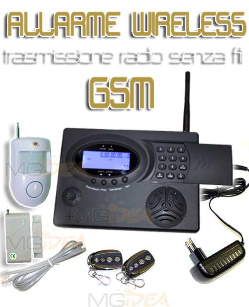 Allarme casa negozio antifurto wireless gsm kit base ebay for Combinatore telefonico auto